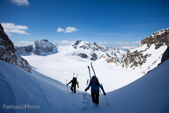 Topping out for another couloir