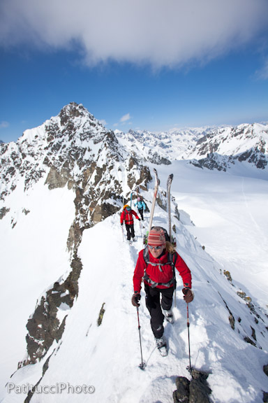Ridge traversing, Silvretta Tour