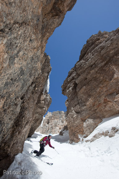 Susie Sutphin in the Joel Couloir